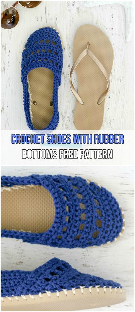 7 Easy Crochet Slippers Free Patterns Patrones Pinterest