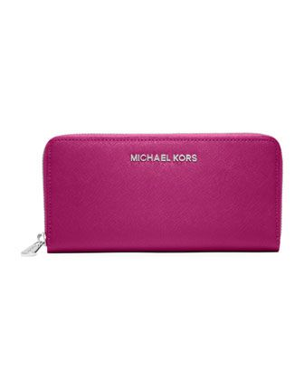 c9d6dbc92ad2 MICHAEL Michael Kors Jet Set Travel Continental Wallet ~ Fuchsia  3 ...
