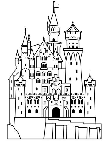 Neuschwanstein Castle Ausmalbild Ausmalen Ausmalbild Bilder