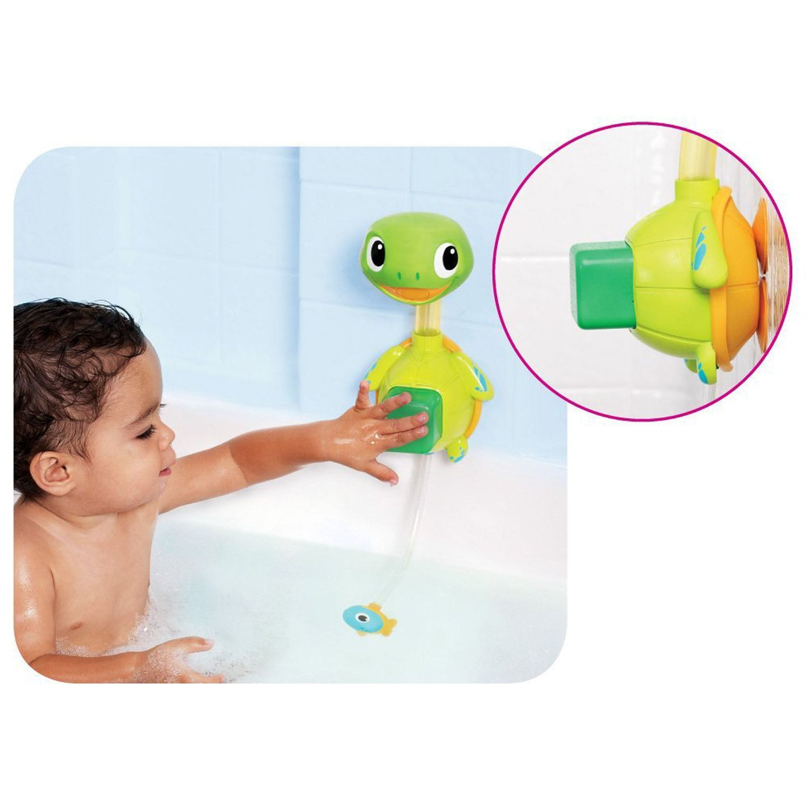 Munchkin Baby / Child Interactive Turtle Shape Shower Bath Toy ...