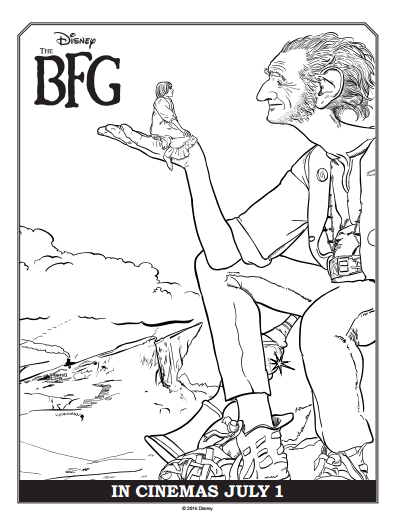 BFG Roald Dahl Coloring Pages crafts Pinterest Activities