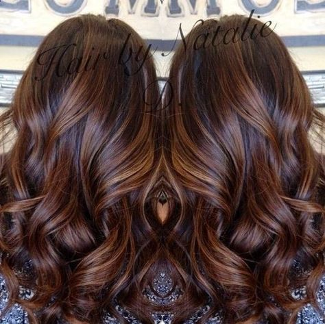 Long Brown Hair With Caramel Balayage My Dark Brown Hair Looks