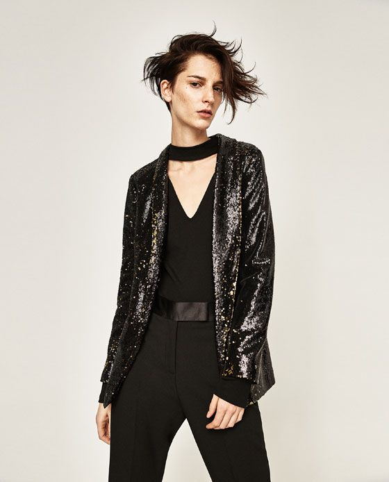 4204ec811 Imagen 3 de BLAZER LENTEJUELAS de Zara | Fashion | Chaqueta de ...