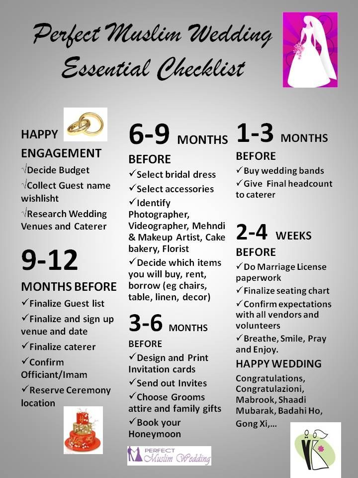 Perfect Wedding Guide Planner Checklist Timeline From Perfect Muslim Wedding Muslimwedding Weddin Wedding Planner Guide Muslim Wedding Perfect Wedding Guide