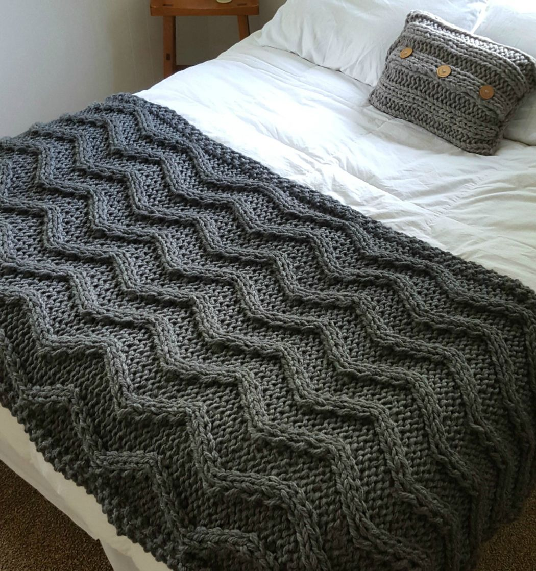 Knitting Blankets : Quick afghan knitting pattterns super bulky yarn