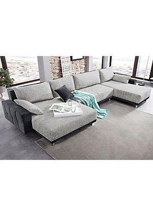 Wohnlandschaft, in trendigem Design, immer mit Bettfunktion und ...