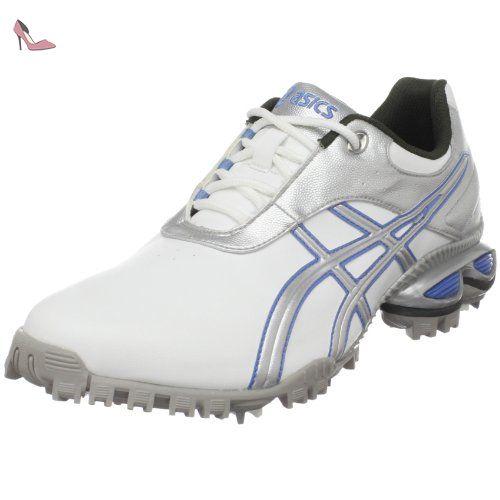 Asics , Chaussures de golf pour homme - multicolore - White/Silver ...