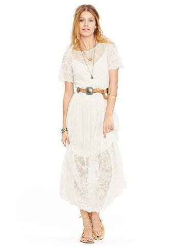 Lauren Ralph Lauren Embroidered Lace Sheath Dress
