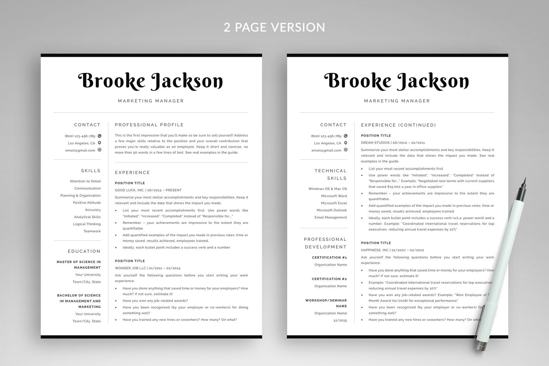 Modern Resume Template CV Bonus Ad , Affiliate,
