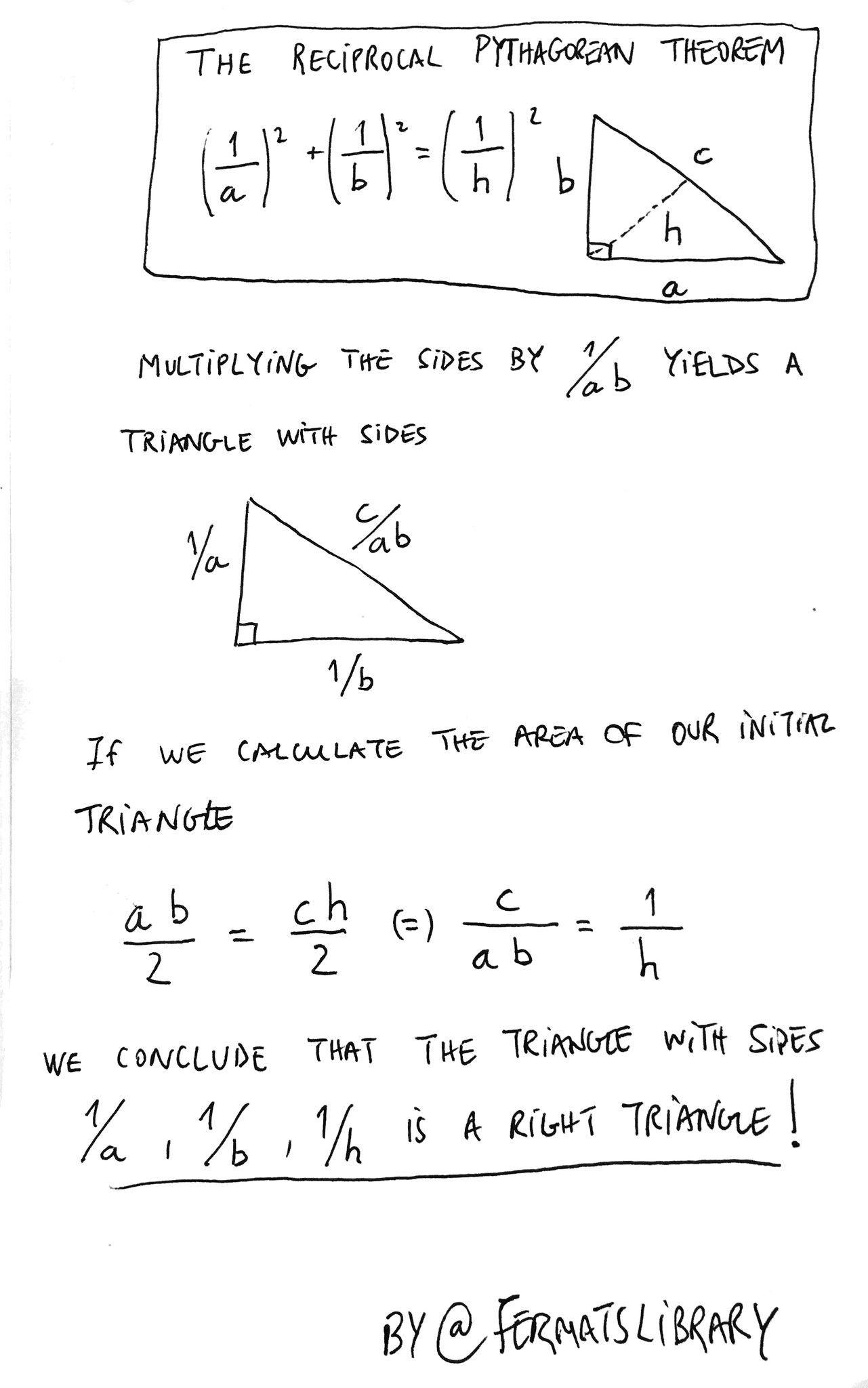 Reciprocal pythagorean theorem (With images) Mathematics