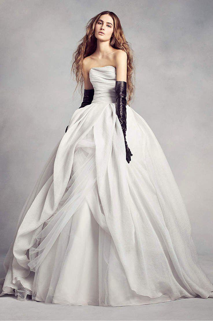 How Much Does It Cost To Dry Clean Wedding Dress Unique White By Vera Wang Wedding Dresses Gowns In 2020 Wedding Dress Organza Grey Wedding Dress Ball Gowns Wedding