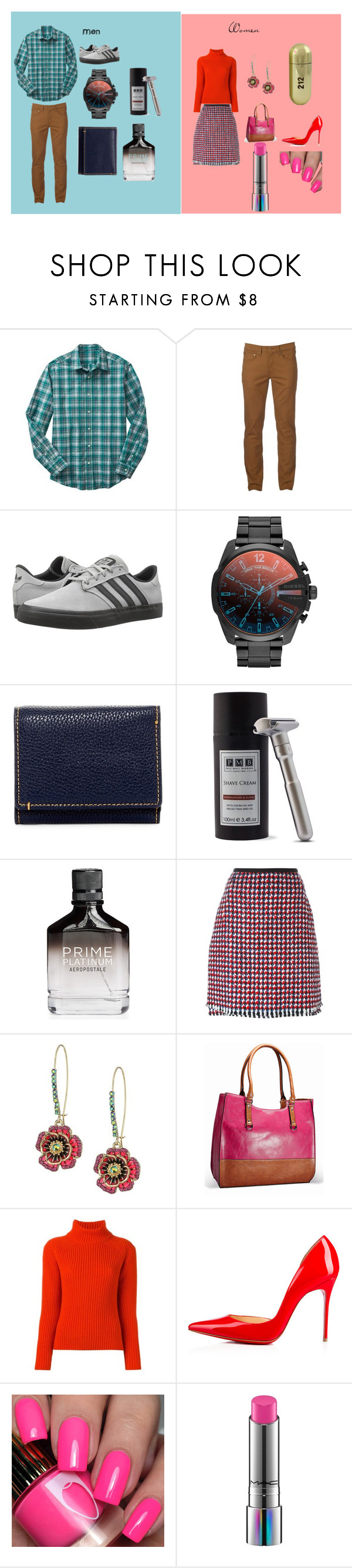 """""""Opposites"""" by shannongarner ❤ liked on Polyvore featuring Gap, Urban Pipeline, adidas, Diesel, Robert Graham, Aéropostale, Odeeh, Betsey Johnson, Carolina Herrera and Avenue"""