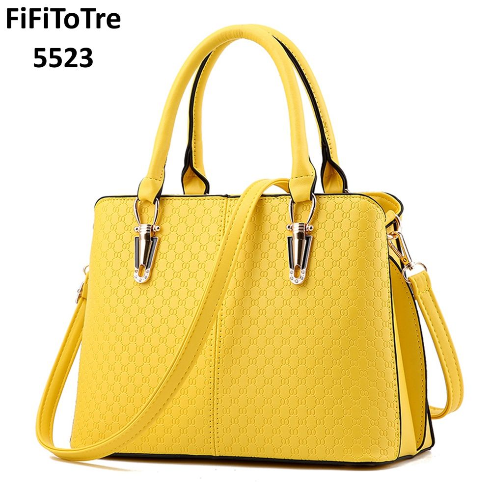 333d1f1913b New Arrival Fashion Women Handbags Shoulder Bags PU Leather Solid Black Top-handle  Bags Female Messenger Bag Dollar Price yellow Review