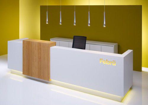 Contemporary reception desk atrio febrü büromöbel gmbh mobilier