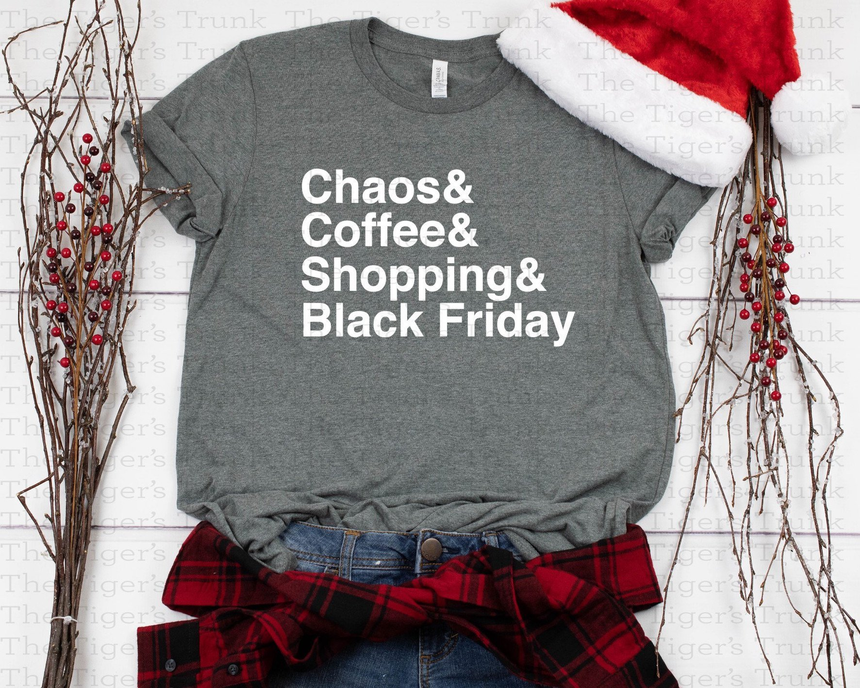 Chaos and Coffee and Shopping and Black Friday tee
