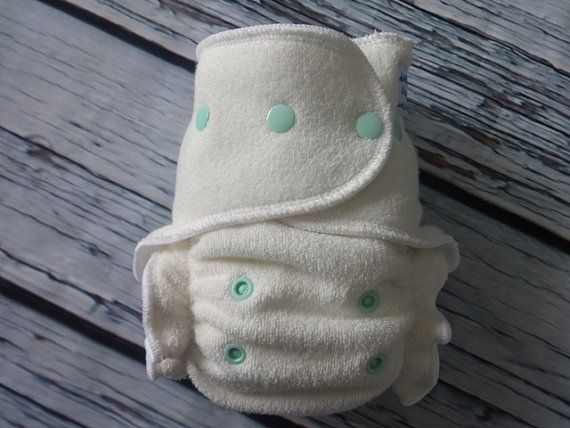 One Size Stay Dry Overnight Fitted Cloth Diaper in Natural ...