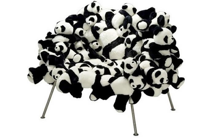 The Panda Banquete is a Unique Chair Made of Stuffed Animals #animals trendhunter.com