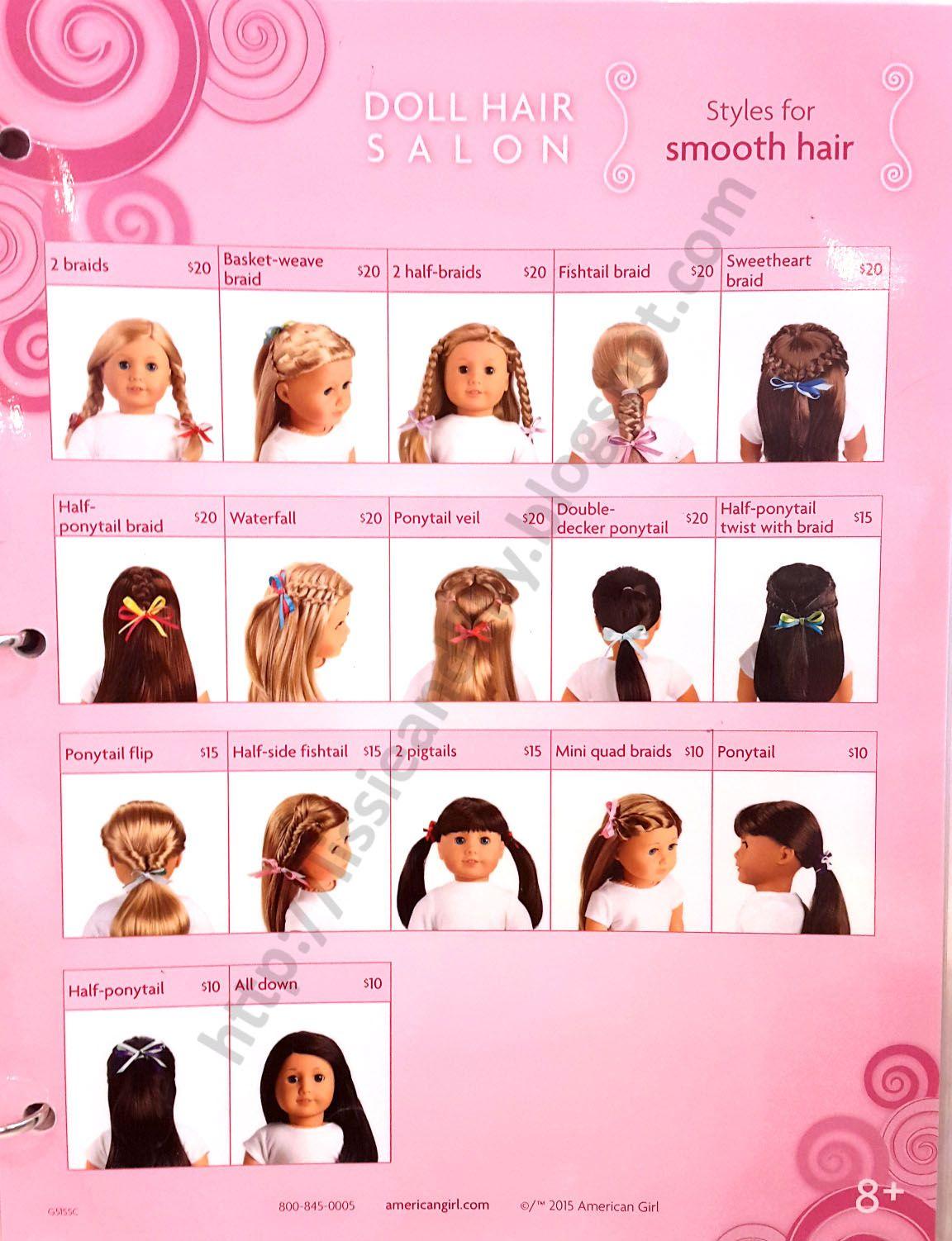 AG Salon Hairstyles   American girl hairstyles, American girl doll ...