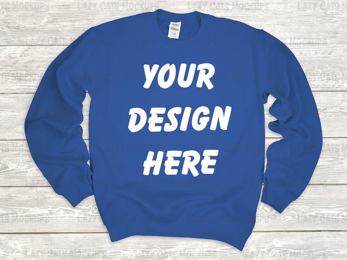 Download Royal Blue Gildan 18000 Mockup Sweatshirt Mock Up Women Etsy Sweatshirts Hoodie Mockup Great T Shirts