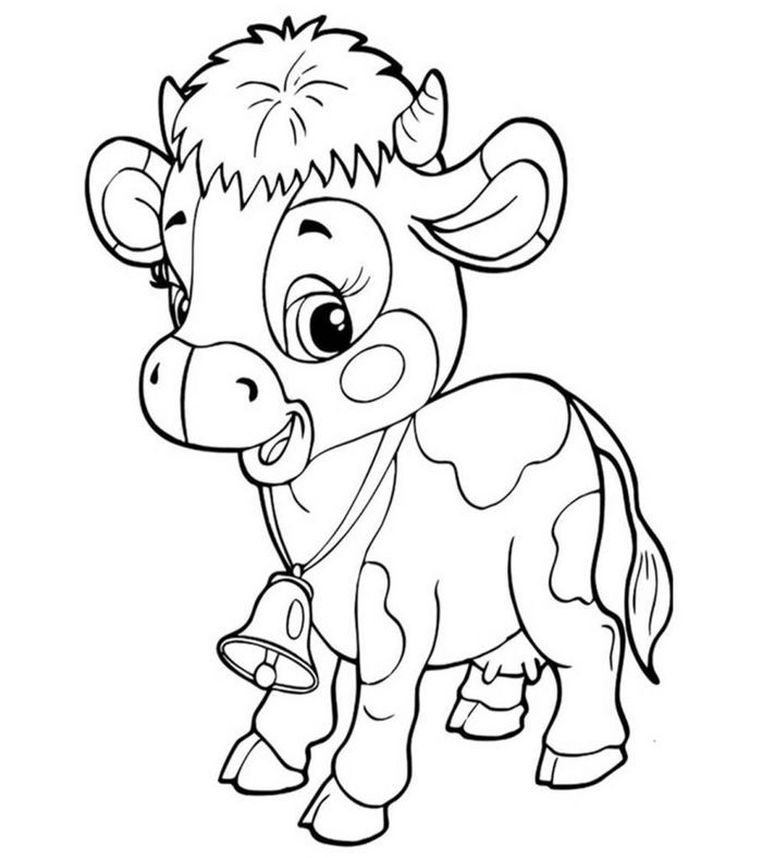 Baby Cow Coloring Pages Tegninger