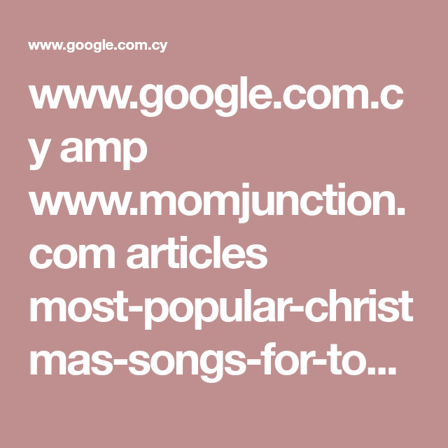 wwwgooglecomcy amp wwwmomjunctioncom articles most popular christmas songs for toddlers_00382985 3famp1 - Most Popular Christmas Songs