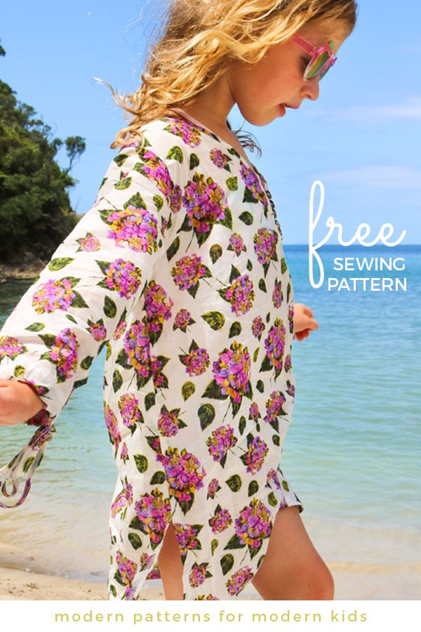 Free Girls Sewing Pattern Aruba Kaftan Summer Pattern Seen Here
