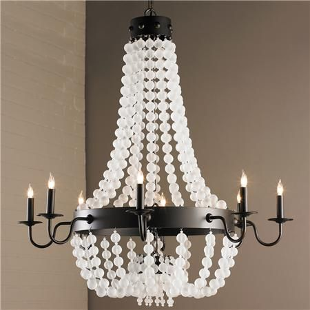 Glass Chandelier Beads: Frosted Glass Bead Chandelier - Shades of Light,Lighting