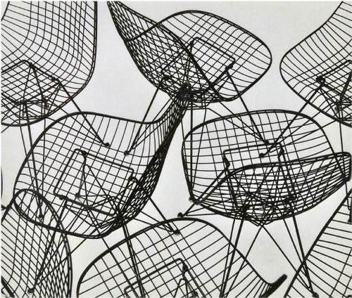Eiffel Tower Chair Photograph, with the Eames Wire Chair designed for Herman Miller  Charles and Ray Eames  1951