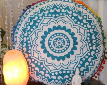 Indian large floor cushion cover mandala pillow floor by VDCraft