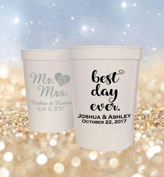 wedding favors 16oz stadium cups 100 custom personalized stadium cup wedding favor ideas best day ever mr mrs designs