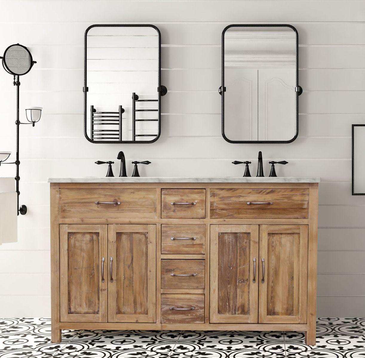 72 Woodland Italian Carrara Marble Natural Pine Marble Bathroom Bathroom Vanity Small Bathroom