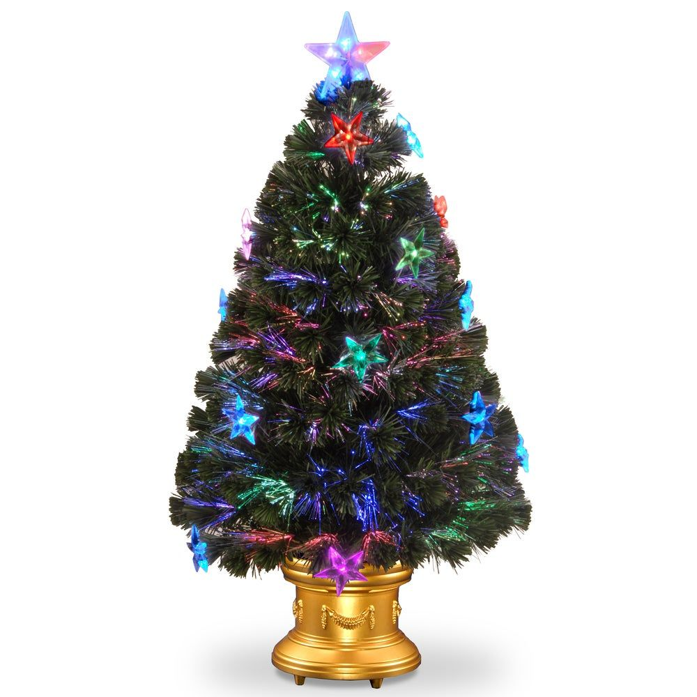 36inch Fiber Optic Fireworks Tree with Star Decorations