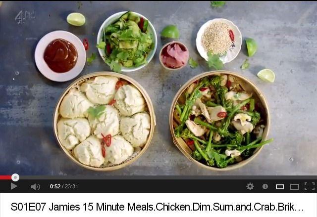 Chicken Dim Sum Crab Bricks Jamie Oliver 15 Minute Meals 15 Minute Meals Meals