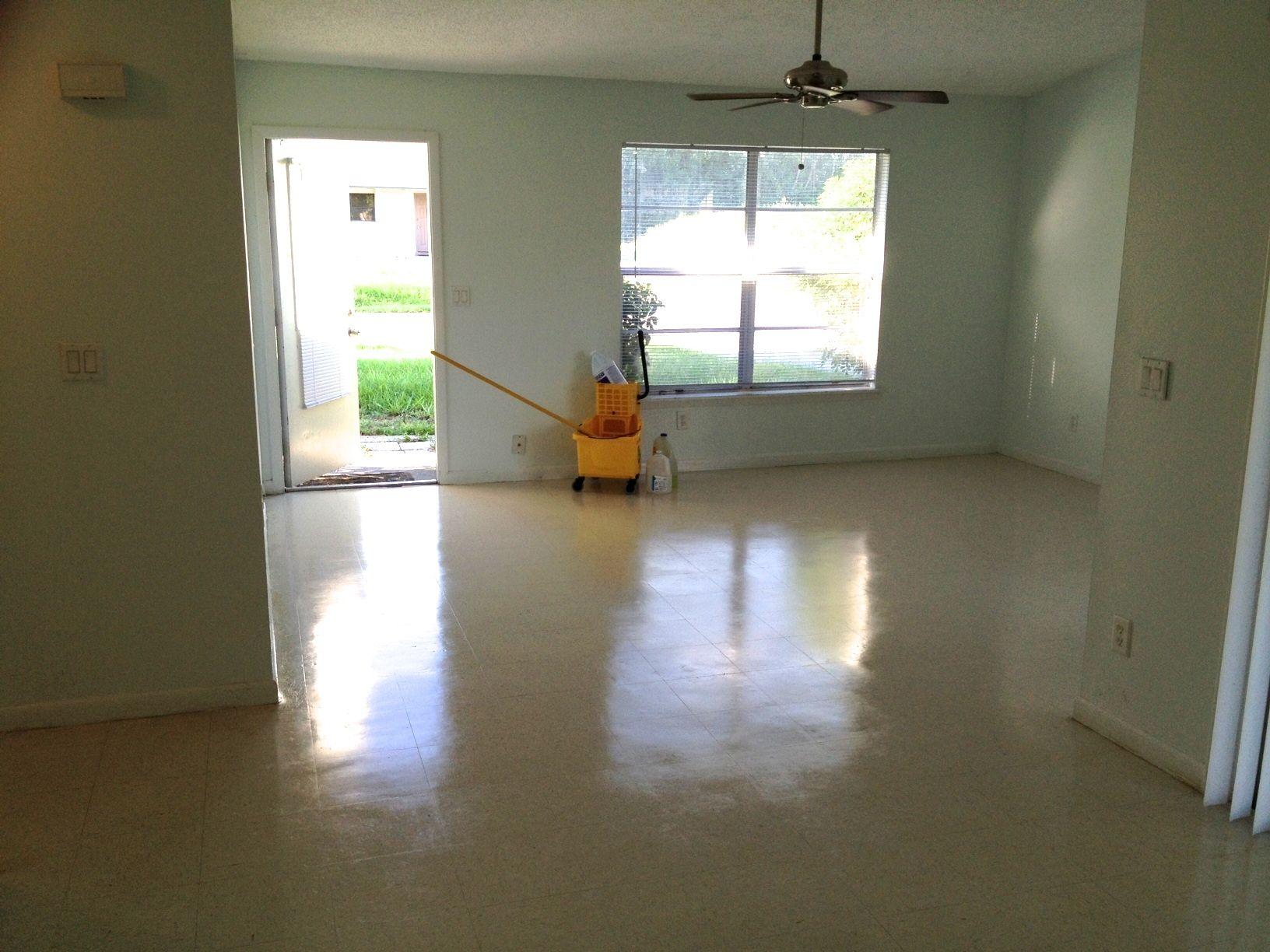 Wax Linoleum Kitchen Floor