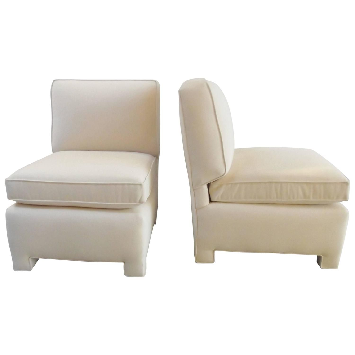 Pair of Billy Baldwin Small Club Chairs