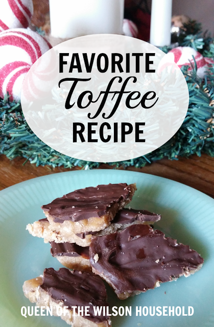 Toffee is a favorite Christmas candy that everyone enjoys. This recipe uses only 3 ingredients that you probably already have in your kitchen. You won't be able to eat just one peice!