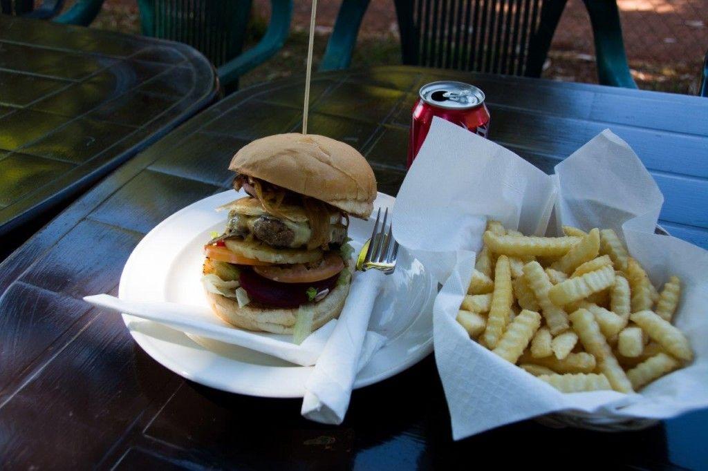 Drysdale Station burger!