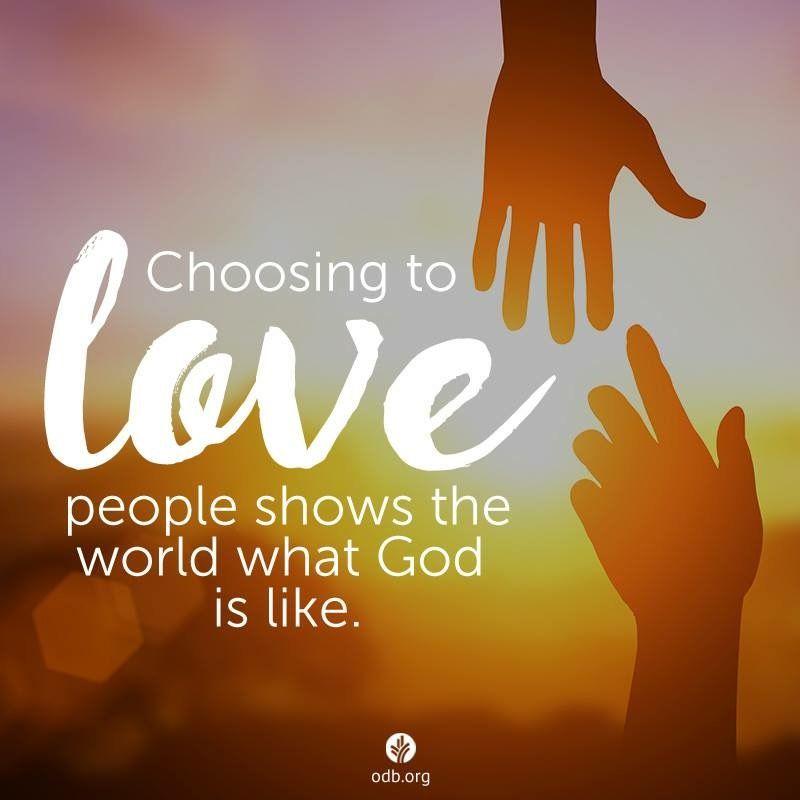 """การเลือกที่จะ """"รักผู้อื่น"""" คือ การสำแดงให้โลกเห็น """"พระลักษณะ"""" ของพระเจ้า"""