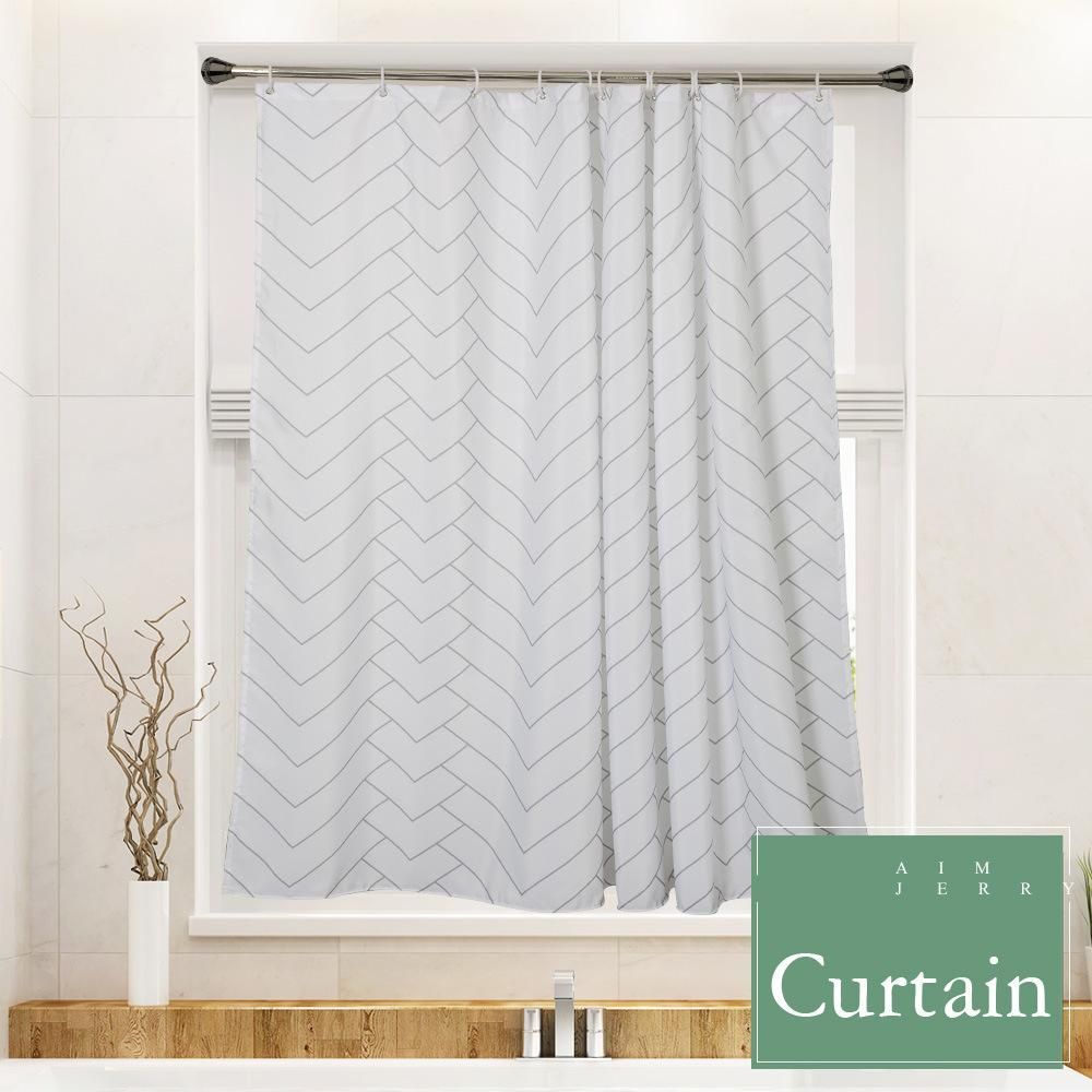 Striped Mold Resistant Shower Curtain Curtains Fabric Shower