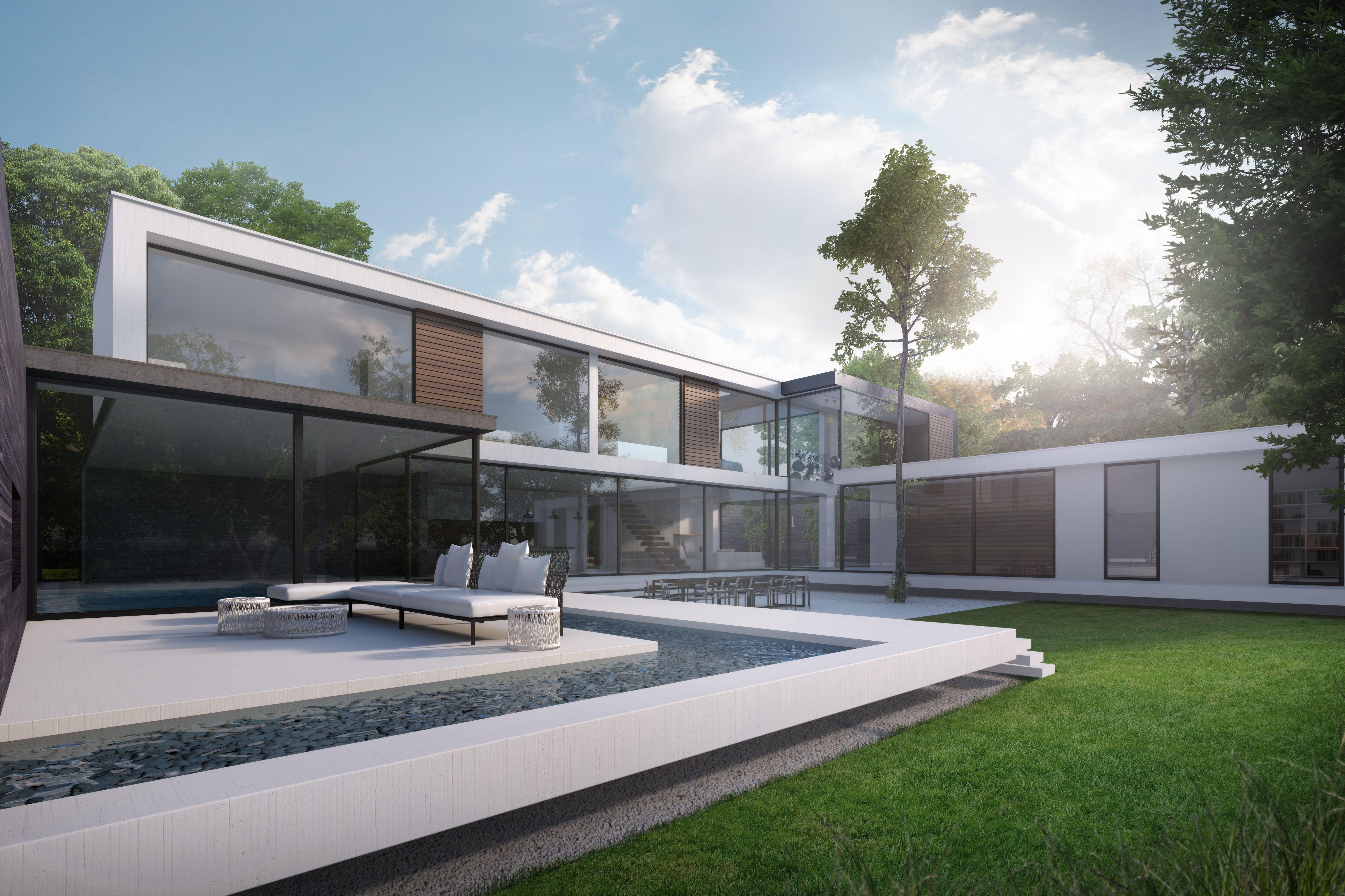 #Garden, #Modern, #Exterior, #Denbridge