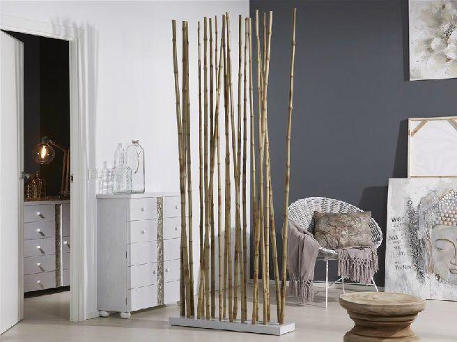 Biombo o separador ca as de bambu natural biombo o separador ca as de bambu natural division - Decoracion con biombos ...