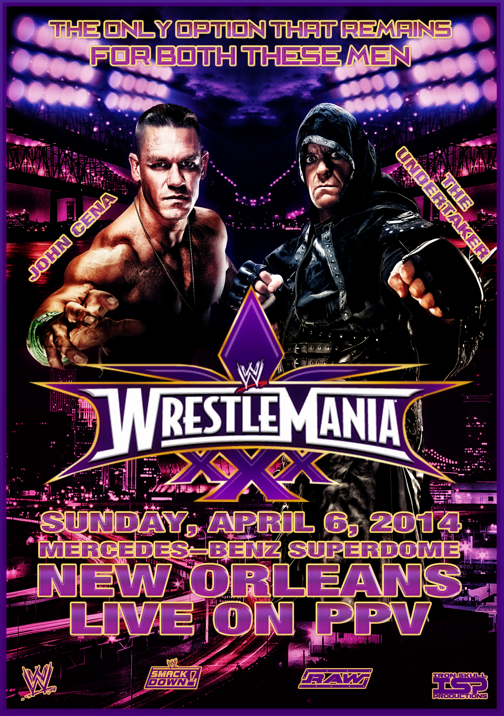 Wwe Wrestlemania 30 Custom Poster Wwe Wrestlemania 30 Wrestlemania 30 Wrestlemania