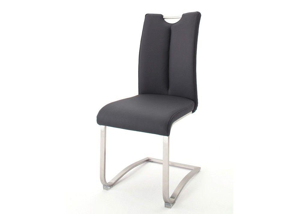Stuhl Artos bis 140 kg belastbar 2er Set Kunstleder Schwarz 22249 ...