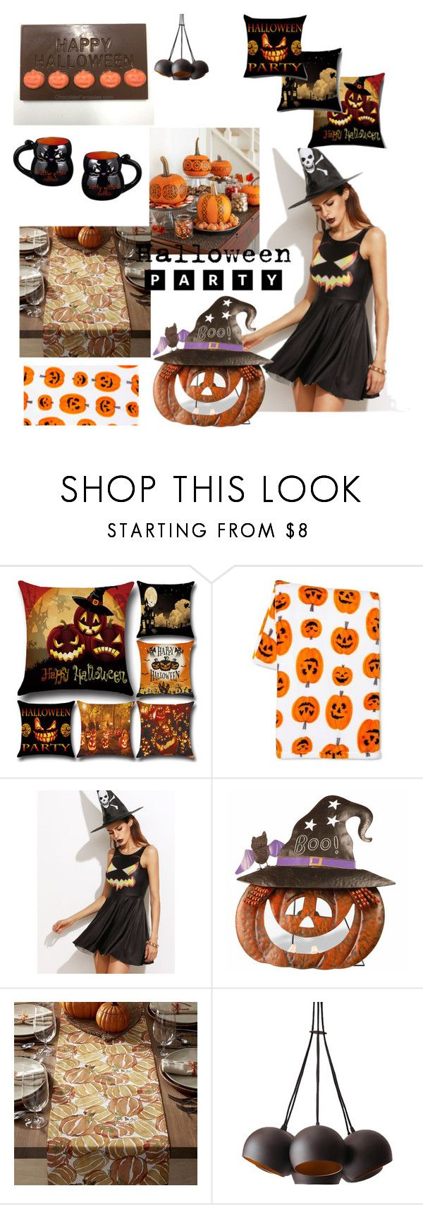 """""""Halloween"""" by amiraahmetovic ❤ liked on Polyvore featuring interior, interiors, interior design, home, home decor, interior decorating, Crate and Barrel, Grasslands Road and Halloweenparty"""