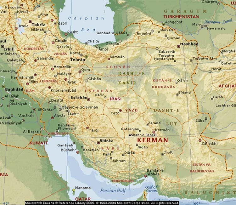 Map of Iran ZOROASTRIANISM Pinterest Iran