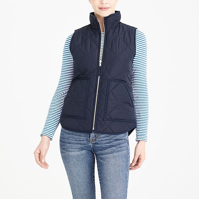 818b1f105 Plus Size Women's Plus Quilted Puffer Vest Houndstooth - Ava & Viv ...