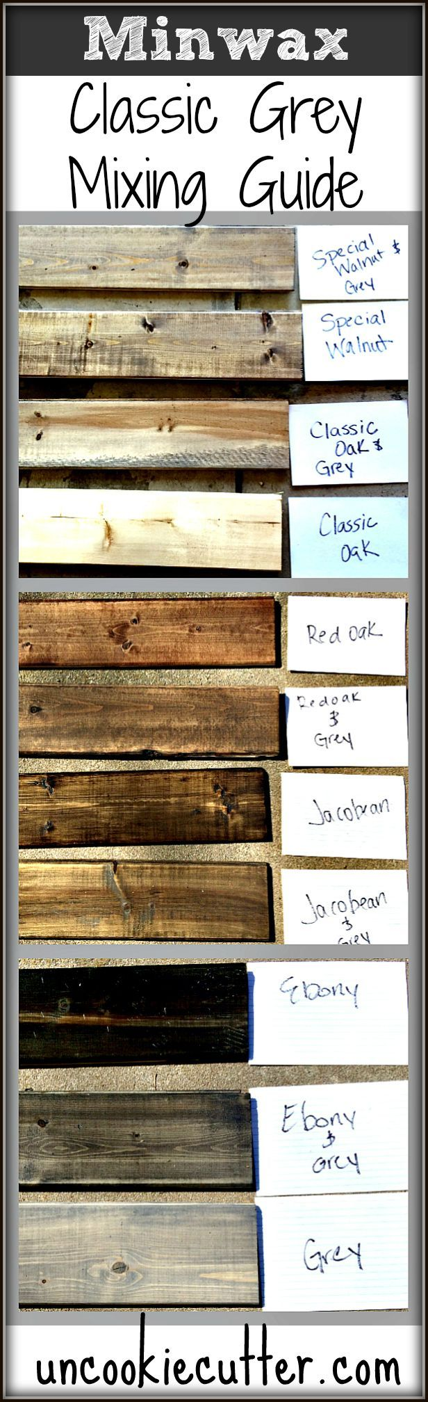 Mixed Wood Wall Easy Cheap Diy Stains Grey And