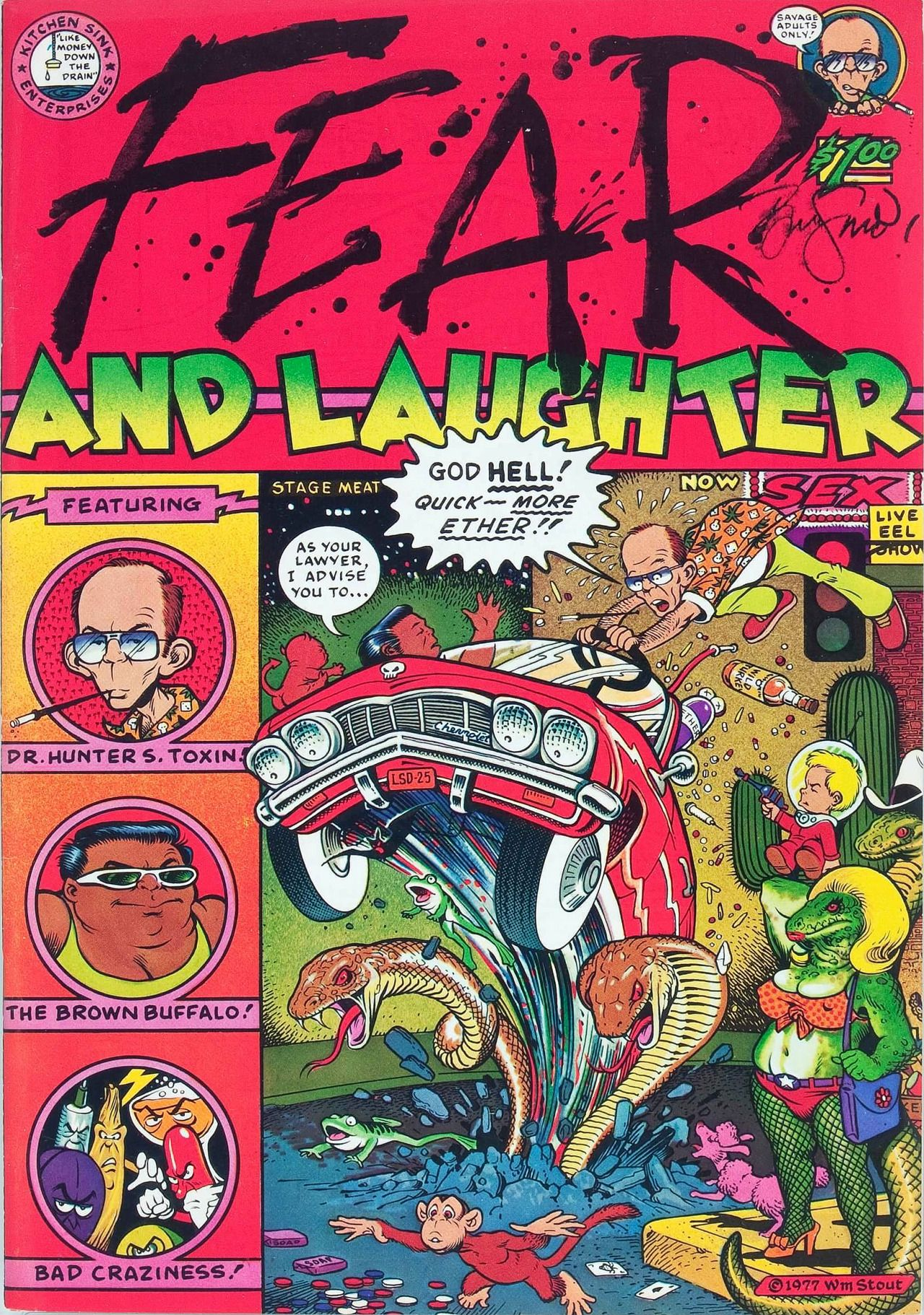 cover by William Stout from Fear and Laughter #1, published by ...