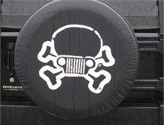 Jeep Skull/Crossbones Tire Cover, JPFreek Logo   Size Y For Shawnu0027s Jeep