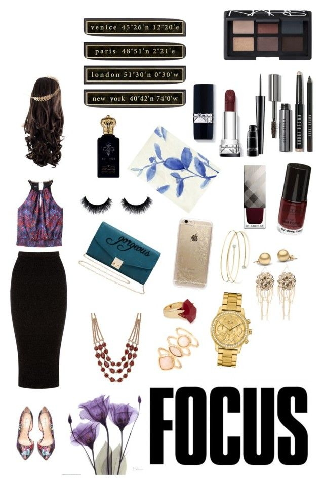 """""""Focus // Professional Style"""" by shreyamshah24 ❤ liked on Polyvore featuring Bebe, Warehouse, M&Co, Lucky Brand, Lola Rose, Monsoon, Elsa Peretti, Rifle Paper Co, Lacoste and NARS Cosmetics"""